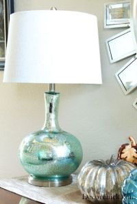Bedside lamps with drum shades - Use Looking Glass spray ...