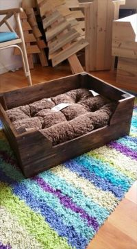 Easy to make Wooden pallet dog bed   Dog DIY Projects ...
