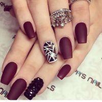 Matte Burgundy Nails | Nails | Pinterest | Burgundy nails ...