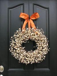 The ribbon, Autumn wreaths and Fall wreaths on Pinterest