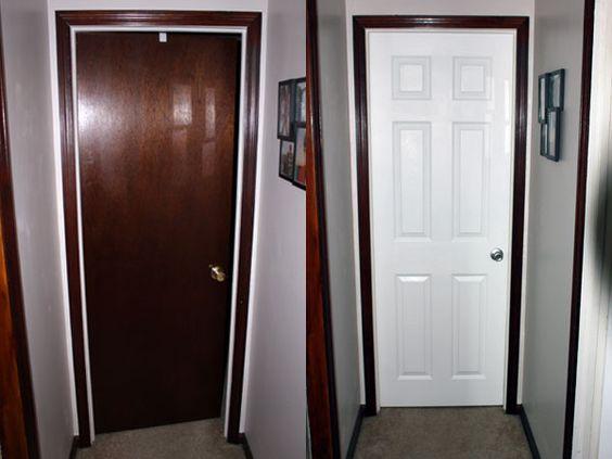 Painted Door With Stained Trim | Interior Doors | Diy, Home