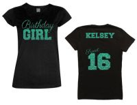 Sweet 16 Birthday Girl Script Shirt - Personalize the Name ...