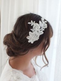 Wedding hair pieces, Hair pieces and French lace on Pinterest