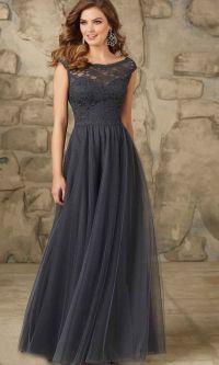 Dark Gray Long Lace Bridesmaid Dresses UK KSP401 | uk prom ...