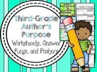 Author's Purpose Worksheets & Printables | Purpose ...