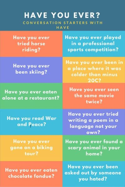 What to Say when Someone Asks You a Question with Have You?   Quizes, Asking questions and ...