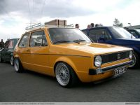 mk1 vw rabbit - orange, roof rack | Vw Mk1 | Pinterest ...