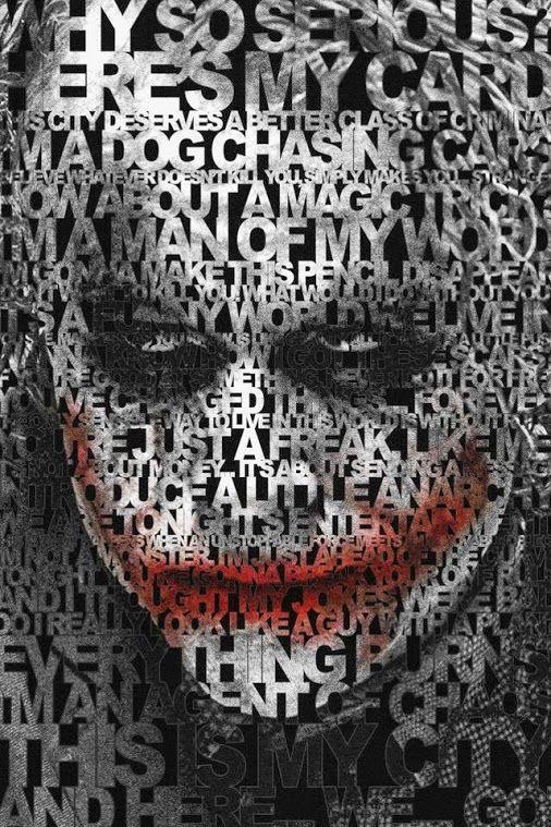 Joker Hd Wallpapers With Quotes The Joker Of Batman Words Quotes Typography Art