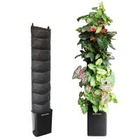 """Plants on Walls"" vertical gardening. I would use this for"