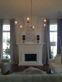 Fireplace between windows??   home   Pinterest   Fireplace ...