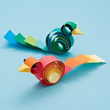 Curly Birds | Paper Crafts & Origami - Fun, Easy Paper Folding
