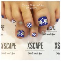 Dallas Cowboys toe designs.   Cute Nails Designs ...