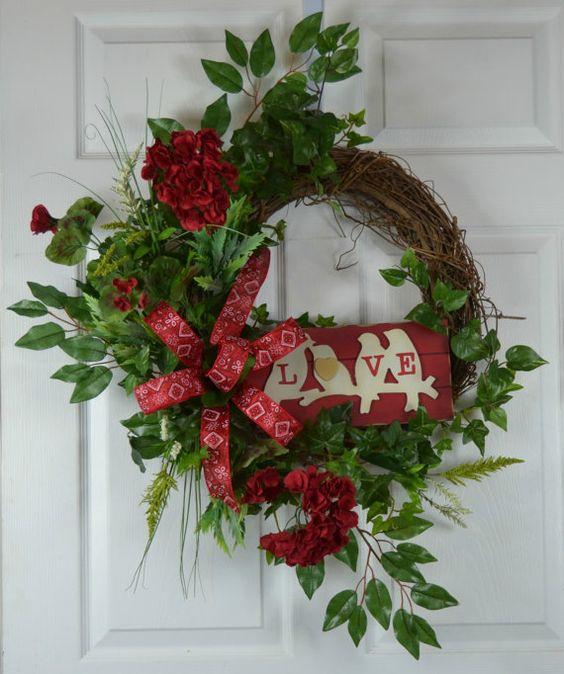 Valentines Front Door Wreath
