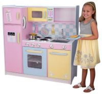 Girls Kitchen Set Deluxe Wooden Large Culinary Kitchen 3 ...