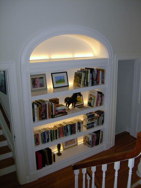 Bookcases Lighting And Open Bookcase On Pinterest