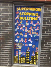 Superheroes Stopping Bullying Door Decoration for Anti