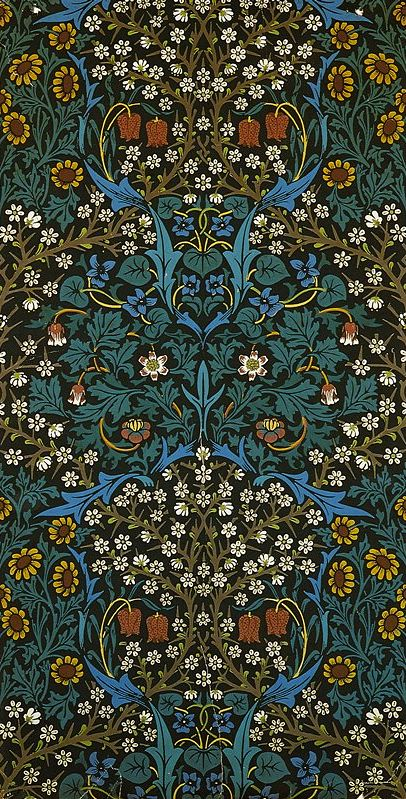 William Morris Blackthorn Block Printed Wallpaper