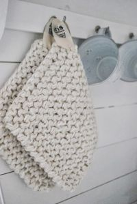 knit potholders. Easy and fast gifts to make :) | Knitting ...