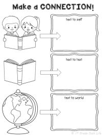 FREEBIE! Making Connections Graphic Organizer!   First ...
