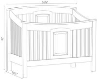 Baby Crib Dimensions | www.pixshark.com - Images Galleries ...
