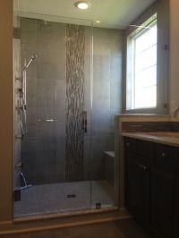 Custom ShowerMan knee wall design with a single door-fixed ...