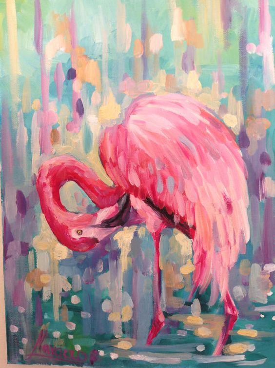 Flamingo art flamingo giclee flamingo canvas by