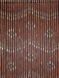 Earth Tones Retro Hippie Wood and Bamboo Hanging Door Bead ...