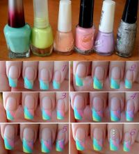 Pastel nail art, Pastel nails and Nail art tutorials on ...