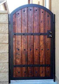 Wood Iron Gates | Iron & Wood Combination Gate Designs ...