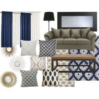 Living room color schemes, Grey and Navy rug on Pinterest
