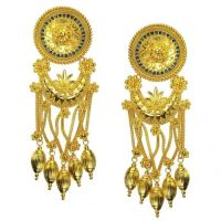 18k Gold and Enamel Museum Earrings | The o'jays, Jewelry ...
