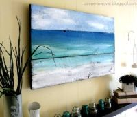 Ocean paintings, Ocean and Old wood on Pinterest