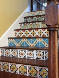 Hacienda style! Mexican tile stair risers | INSPIRATION ...