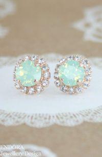 Gold earrings, Wedding jewelry and Swarovski on Pinterest