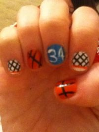 Basketball nails! | Nails!! | Pinterest | Nails ...