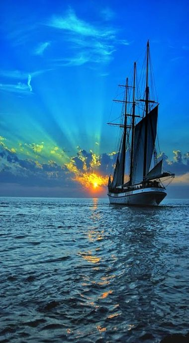 sailing into the sunset: