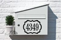 Mailbox numbers with frame - Vinyl Wall Art | Vinyls ...