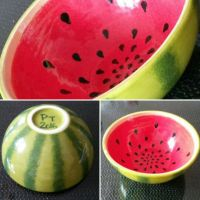 Diy pottery, Painted Watermelon bowl, paint your style ...