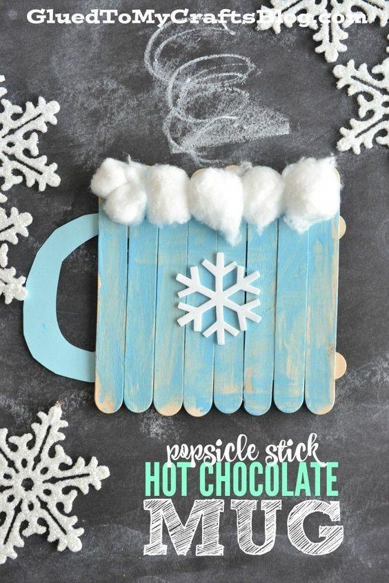 popsicle stick hot chocolate mug kid craft