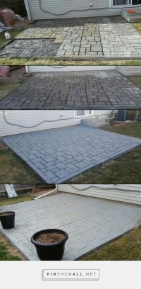 Small patio created using Quikrete walkmaker. Used 80lbs ...