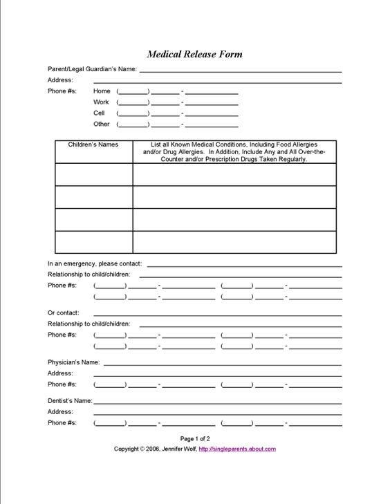 Work Release Forms School Work Release Form Sample Work Release - work release form