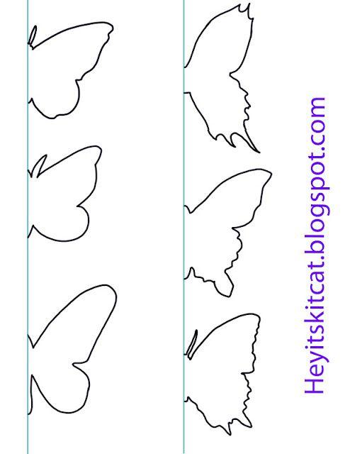 gabarit pour mettre sur le mur Papillons Pinterest Butterfly - butterfly template