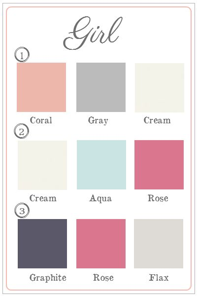 Girls Nursery Color Schemes - Google Search. Perhaps Replace The