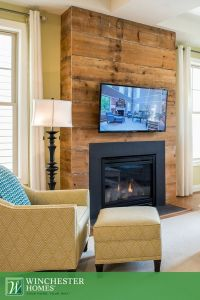 Contemporary fireplaces, Wood planks and Chicago on Pinterest