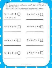All Worksheets  Number Sentence Worksheets - Printable ...