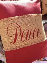 Burlap Christmas Pillow...Simply buy or make a burlap ...