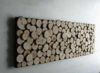 Wood Slice Wall Art Rustic Sculpture Abstract Tree Branch ...