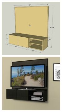 This wall-mounted media cabinet takes a new approach to ...