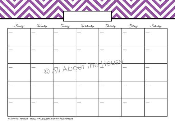 Blank Usable Calendars Free Calendars And Calendar Templates Printable Calendars Perpetual Monthly Calendar Blank From The Calendars And