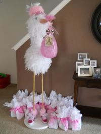 DIY stork for baby shower!   Baby Showers: Storks ...